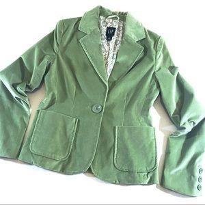 Gap Green Velvet Jacket (4)